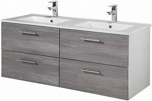 Doppelwaschbecken 100 Cm : waschtisch trento breite 120 cm doppelwaschtisch doppelwaschbecken 2 tlg online kaufen ~ Orissabook.com Haus und Dekorationen