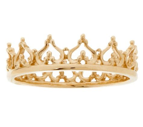 14K Gold Polished Queen's Crown Ring - J320021 — QVC.com