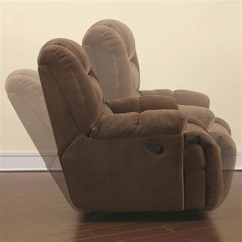 brown fabric recliner sofa coaster 600340 brown fabric glider recliner steal a sofa