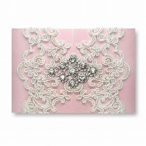 high end elegant byzantinism lace wedding invitations With elegant jeweled wedding invitations