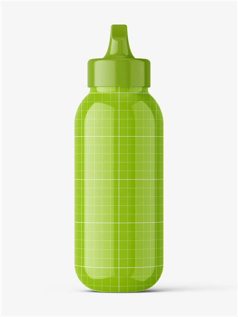 Collection of free beer bottle mockup psd files. Glossy bottle with spout cap mockup - Smarty Mockups