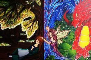 Reality Vs. Fantasy by DraFairies3 on DeviantArt
