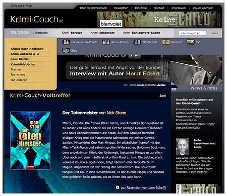 """Krimicouchde  """"ausgezeichnete"""" Krimiwebsite Mit Grimme"""