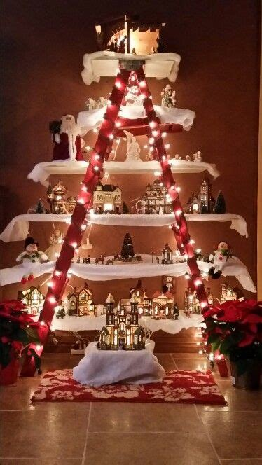 christmas village vintage ladder home sweet home diy