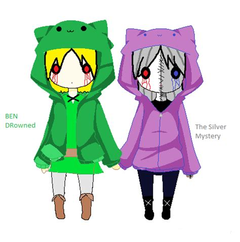 Anime Couple Hoodies Ben And Misty With Kitty Hoodies 3 By Jeffythekiller123