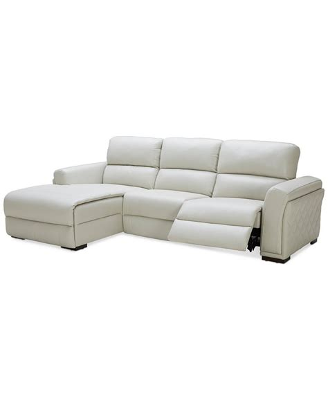 chaise pc 3 pc leather sectional sofa with chaise with 1 power
