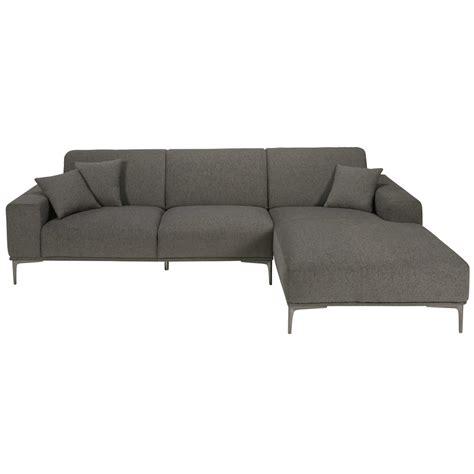 canap angle maison du monde canapé d 39 angle droit 5 places en tissu gris chiné