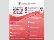 Calendario de Trámites 2018 A Centros Universitarios y