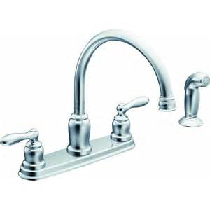 moen caldwell double handle kitchen faucet with matching