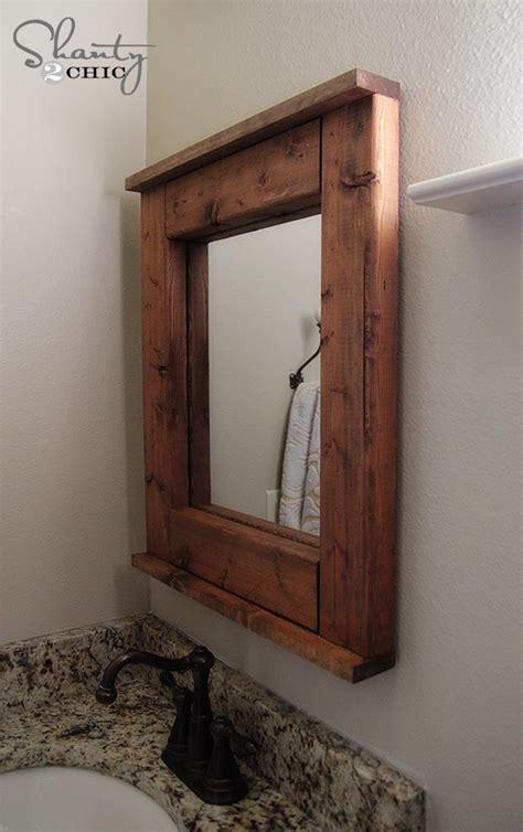 wood mirror diy shanty  chic