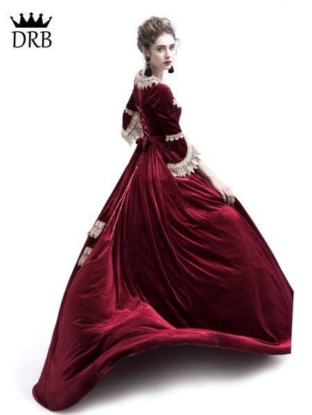 rose blooming wine red velvet ball gown theatrical