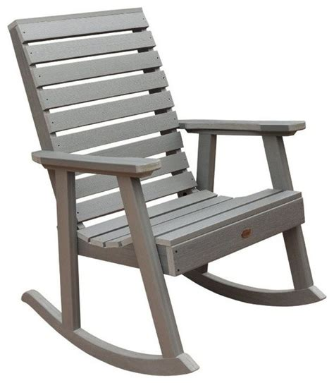 contemporary outdoor rocking chair highwood usa llc weatherly rocking chair eco friendly synthetic wood contemporary outdoor