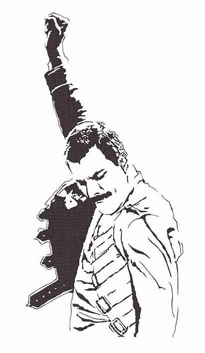 Mercury Freddie Queen Clipart Drawing Singer Lead