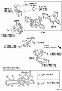 2015 Toyota Highlander Xle 3 5l V6 At Engine Water Pump