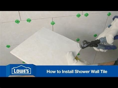 How To Tile A Shower Wall  Youtube