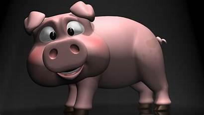 Pig Cartoon Wallpapers Pigs 3d Pork Background