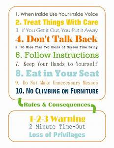 house rules for preschoolers great printable but mine With house rules chart template