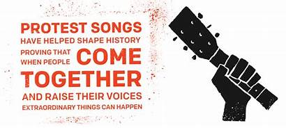 Protest Sing Hear Songs Together Words Come