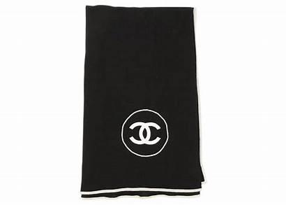 Chanel Cashmere Stole Silk Scarf Cc Wrap