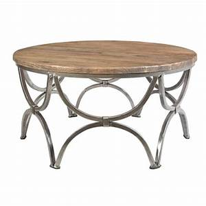 bengal manor mango wood and steel round cocktail table by With round mango wood coffee table