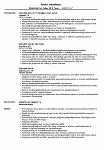 Chinese chef sample resume microsoft certificates for Chinese resume template download
