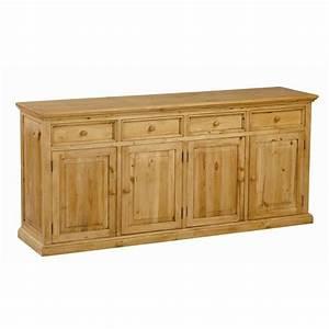 Buffet Bois Pas Cher : meuble bas en pin 4 portes 4 tiroirs achat vente buffet bahut meuble bas cdiscount ~ Teatrodelosmanantiales.com Idées de Décoration