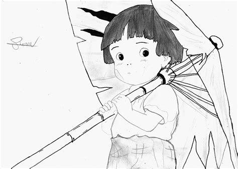 Gambar Sketsa Anime Hitam Putih Wallpaper Ilustrasi Satu Warna Gadis Anime Karya Seni