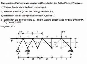 Auflagerkräfte Berechnen : mechanik wie fachwerk und gelenk berechnen mathelounge ~ Themetempest.com Abrechnung