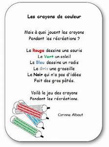 """""""Les crayons de couleur"""" une poésie de Corinne Albaut"""