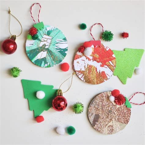 christmas ball art and craft craft spin baubles button diaries