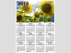 Calendari da scaricare con foto del 2018