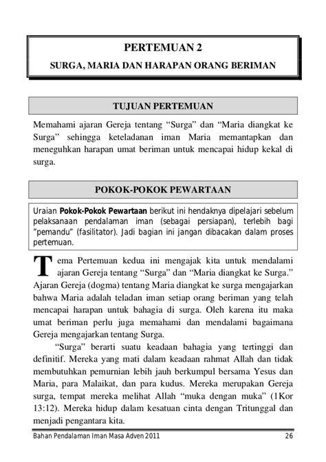 buku pendalaman iman adven   pwt