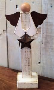 Primitive Wooden Angel