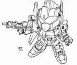 Sd Lineart Gundam Coloring Shiki Hyaku Exia Deviantart Master Larger Killar Credit V2 Sketch sketch template