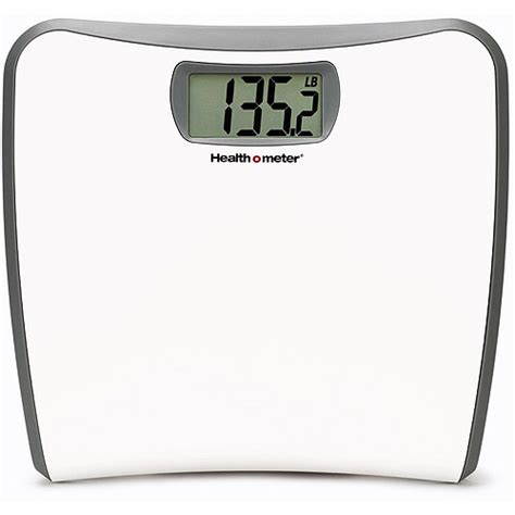bathroom scales at walmart healthometer white slim profile lcd digital bath scale