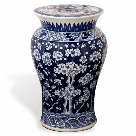 blue and white garden stool port 68 garden stool in blue and white acfs 032 03