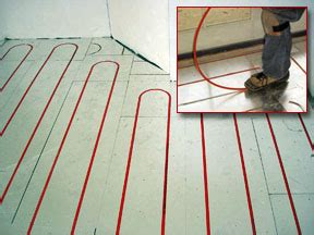 radiant heat information on hydronic radiant heating systems