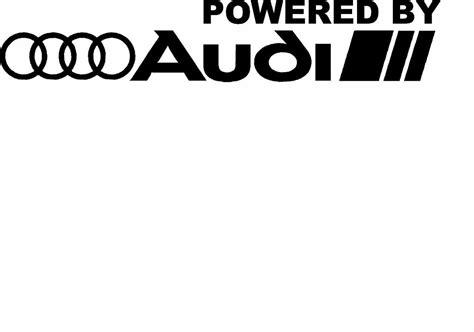 powered by audi racing sport s line window decal sticker emblem logo 2 set l r ebay