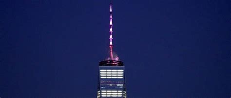world trade center lit   pink  celebrate abortion