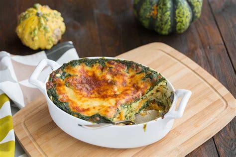 lasagnes végétariennes à la courge et aux blettes