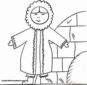 color eskimo coloring pages