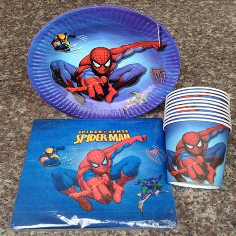 Lovely Spiderman Cartoon Theme Party Tableware Paper