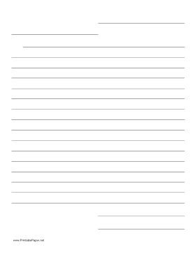 advanced writing templates this friendly letter template helps guide the layout of a