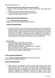 piping engineer resume exle piping designer cv