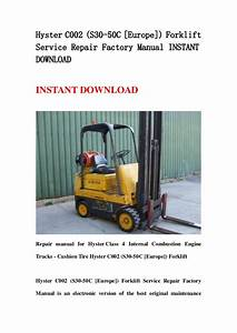 Hyster C002  S30 50 C  Europe   Forklift Service Repair
