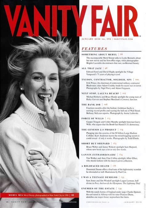meryl streep in vanity fair magazine january 2010 meryl