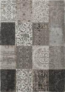 tapis louis de poortere vintage multi noir blanc tapis
