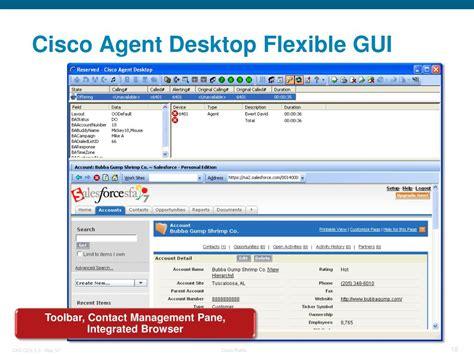 cisco agent desktop contact gui flexible unified express overview center ppt powerpoint presentation toolbar pane