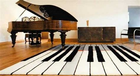 Creating a music bedroom theme in your house. Black and White Decorating Ideas Highlighting Music Themes