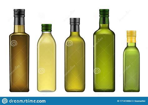 Free mockup download psd mockups templates for magazine, book, stationery. Extra Virgin Olive Oil Green Bottles Mockups Stock Vector ...